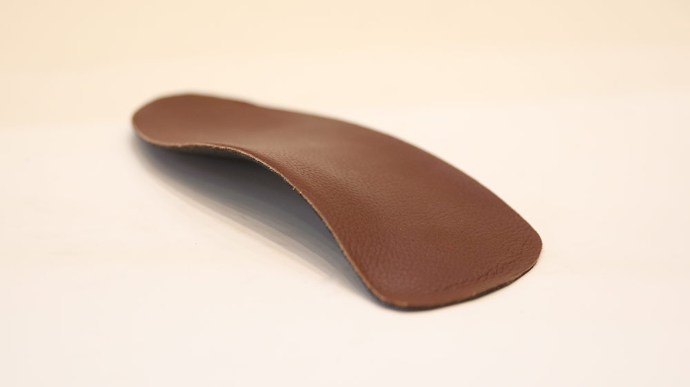 Dark Brown Leather Custom Orthotic Insole