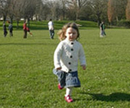 Girl running with custom made orthotics