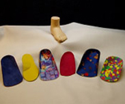 Colourful bespoke orthotics
