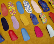 Display of Custom-made orthotics